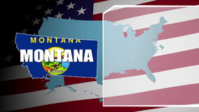 Montana Countered Flag and Information Panel stock video footage