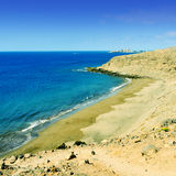Montana de Arena beach in Gran Canaria, Spain Royalty Free Stock Photography