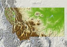Montana, in de schaduw gestelde hulpkaart Stock Foto's