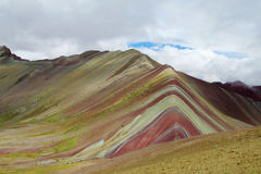 Montana De Siete Colores nära Cuzco arkivbilder