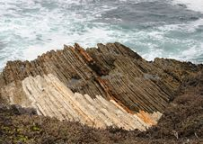 Montana Del Oro Geology and Surf. Geology and surf on the California coast line Stock Image