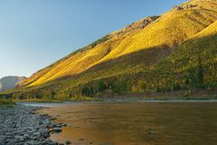 A Montana Fall. Autumn, Montana Glacier National Park, United States Stock Photography