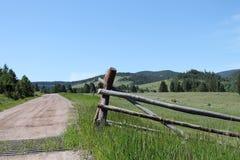 Montana Fence Lizenzfreies Stockbild