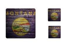 Montana Flag Buttons Stock Photos