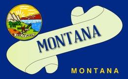 Montana flaga ślimacznica ilustracji
