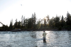 Montana fly fishing Royalty Free Stock Photography