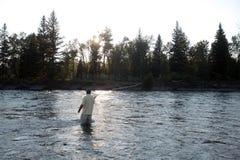 Montana fly fishing Stock Photography