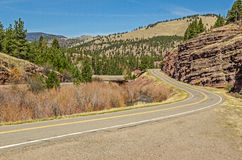 Montana Frontage Road Royalty Free Stock Photos