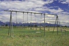 montana gammal lekplats royaltyfri fotografi