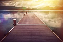 Montana Glacier Lake Scenery Royalty Free Stock Photography