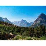 Snow-capped Peaks Glacier National Park stock photography