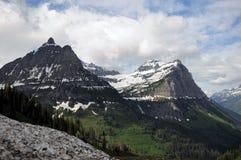 Montana Glaciers Fronted door Groene Riem Stock Afbeeldingen