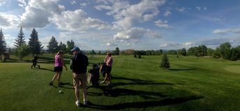 Montana golf. Golfing in Montana royalty free stock photography