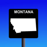 Montana highway sign Stock Images
