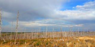 Montana jesieni wsi krajobraz zdjęcia stock