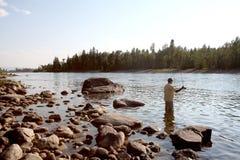 Montana klipskt fiske Arkivfoto