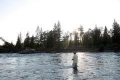 Montana klipskt fiske Fotografering för Bildbyråer
