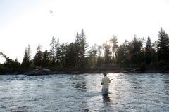 Montana klipskt fiske Royaltyfri Fotografi