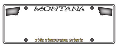 Montana License Plate illustration de vecteur