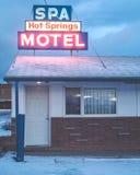 Montana Motel in de winter royalty-vrije stock fotografie