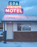 Montana Motel in the winter. Royalty Free Stock Photography