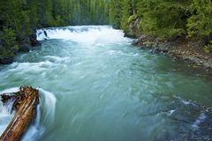 Montana Mountain River Fotografering för Bildbyråer