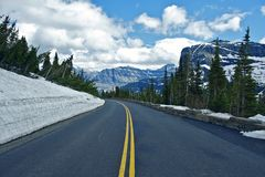Montana Mountain Road Royalty Free Stock Image