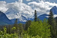 Montana Mountains Range. Rocky Mountains Scenery, Montana Photography Collection Royalty Free Stock Photography