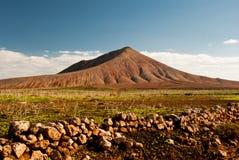 Montana Negra volcano, Fuerteventura. Desert mountains in the north of Fuerteventura, Canary Islands, Spain Royalty Free Stock Image