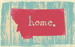 Montana nostalgic rustic vintage state vector sign Royalty Free Stock Photos
