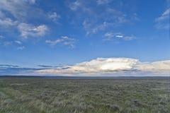 Montana. Prairie landscape: The big sky, Montana Royalty Free Stock Images