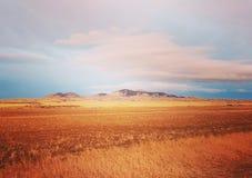 Montana. Prairies mountains Westbutte alberta Stock Images