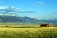 Montana Ranch. Sunny ranch in the mountains of Montana state stock photos