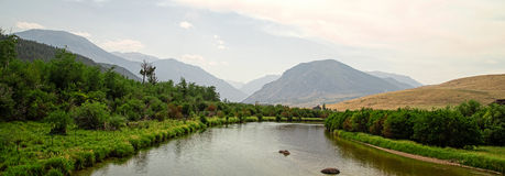 Montana River Panoramic Stock Photo