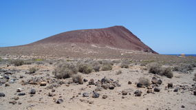 Montana Roja. Red Mountain in El Medano Stock Photography
