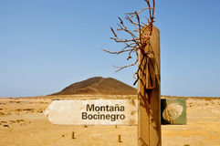 Montana Roja volcano in Tenerife, Spain Royalty Free Stock Photos