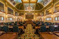 Montana Senate Chamber. Senate Chamber in the Montana State Capitol at 1301 E 6th Avenue in Helena, Montana on July 19, 2017 Stock Photo