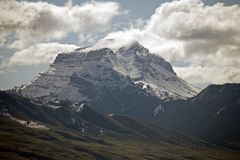 Montana Shpynx. A shot of a gigantic peak in Montana, called `The Sphynx stock images