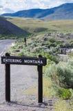 Montana Sign entrando imagens de stock