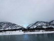 Montana Snowy River. CLARK FORK RIVER MONTANA Stock Image