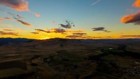 Montana solnedgång Fotografering för Bildbyråer