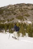 montana som snowshoeing Royaltyfria Bilder