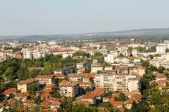 Montana stad, stad i flyg- sikt för Bulgarien Arkivbilder