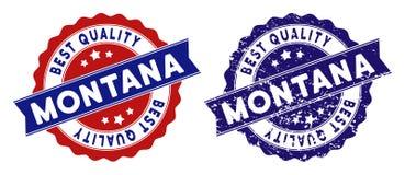 Montana State Best Quality Stamp con effetto graffiato Fotografia Stock