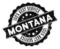 Montana State Best Service Stamp con superficie graffiata Immagini Stock