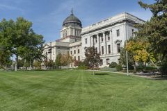 Montana State Capitol in Helena Montana. The Montana Capitol Building was built in 1896 in neoclassical style royalty free stock photo