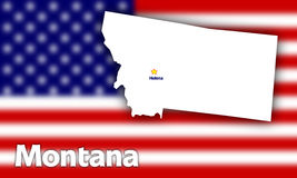 Montana state contour Royalty Free Stock Images