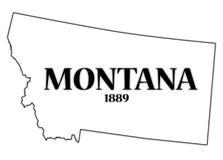 Montana State e data Fotografia Stock Libera da Diritti