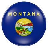 Montana State flag button Stock Photos