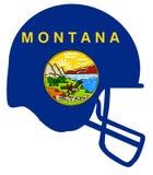 Montana State Flag Football Helmet Imagen de archivo